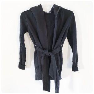 James Perse hooded black jacket 1 S